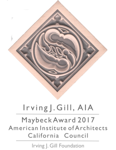 IJGF AIA CC Maybeck Awards 2017 Medallion Composite